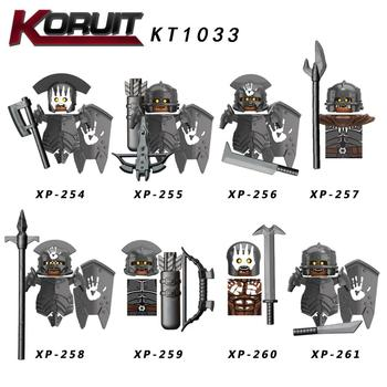 Lord Koruit KT1033 Rings Uruk-hai Archer Heavy Infantry Crossbow Assault Commander weapons Action Figure Building Blocks Toy image