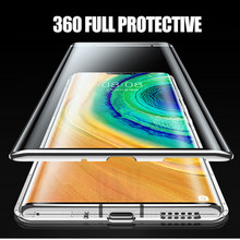 Magnetic Adsorption Metal Case For Huawei P40 P30 P20 Mate 40 30 20 Pro Honor 30s 30 20 20i X10 9X 8X Nova 7 SE Case Cover