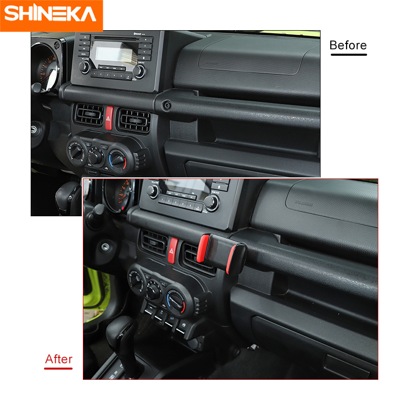 SHINEKA Car bracket For Suzuki Jimny Car Mobile Phone Holder Tablet Stand Bracket Accessories Kits For Suzuki Jimny 2019+