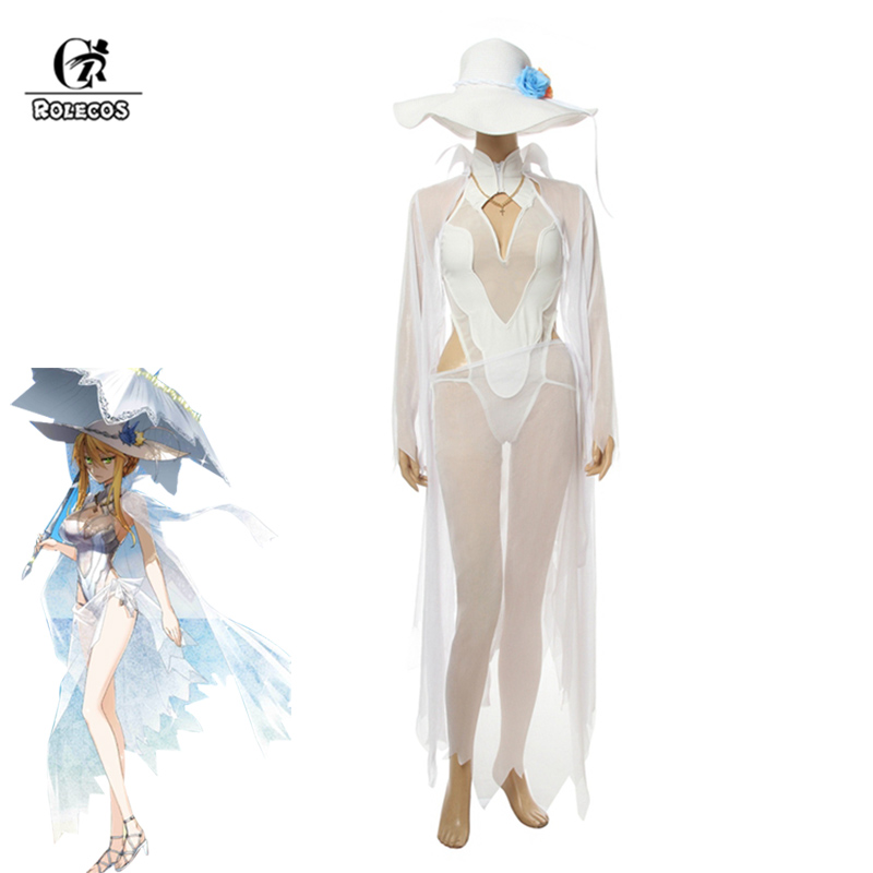 ROLECOS FGO Arutoria Pendoragon Cosplay Sexy Costume Women Swimsuit Game Fate Grand Order Costume Saber Cosplay Swimwear