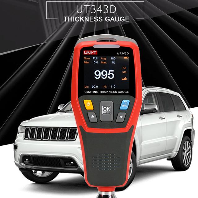 Grubościomierz UT343D cyfrowy miernik miernik Tester grubości detektor samochodów powłoka samochodowa lakier samochodowy miernik testowy tanie i dobre opinie Woopower plastic about 23x22x6 5cm
