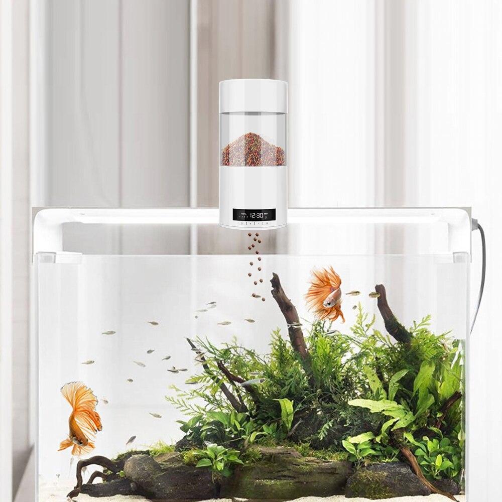 Digital automático alimentador de peixes elétrica 500ml