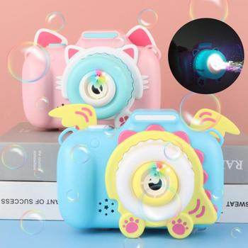 Children's Camera Bubble Machine Toy Electric Music Toy Outdoor Sports Bubbler Maker For Kids Birthday Gift Soap Blow Bubbles