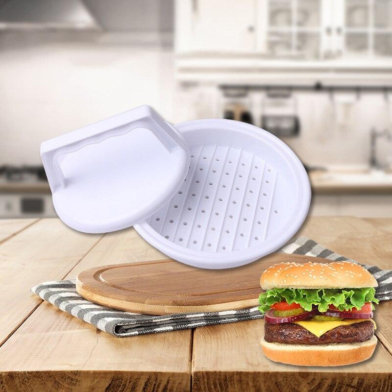 Plastic Hamburger Presses Meat Beef Grill Burger Mold Economic Kitchen Tools