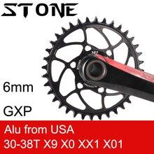 Stone Round Chainring 6mm Offset for sram GXP X9 X0 XX1 X01 eagle 28t 30t 32 34 36 38T Direct Mount Bike ChainWheel Tooth Plate 6 mm аксессуары для велосипеда stan ti sram xx1 x0 x9 20 30