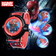 Kid Watch Projector Marvel Spider-Men Digital Hero Boys Child Interest Clock Gift New
