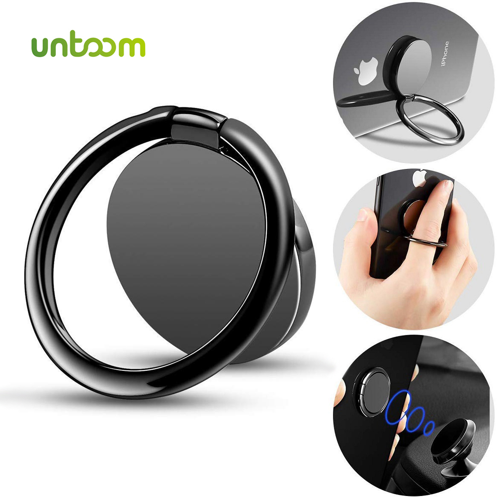 Untoom Finger Ring Phone Holder 360 Degree Rotation Desktop Stand For Magnetic Car Phone Holder Universal Cell Phone Ring Holder