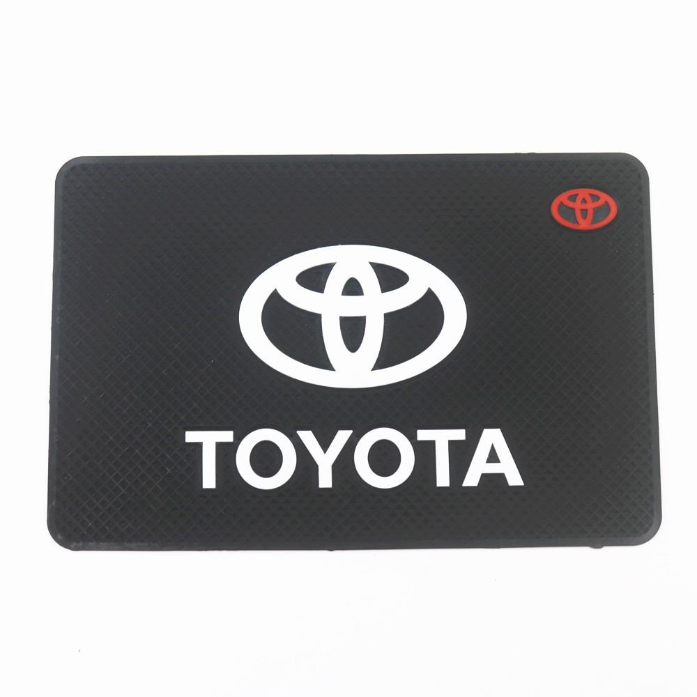 Car Logo Anti Slip Mat Phone Holder Non-Slip Mat Non Slip Pad For Toyota Scion Avensis Auris Hilux Corolla Camry RAV4