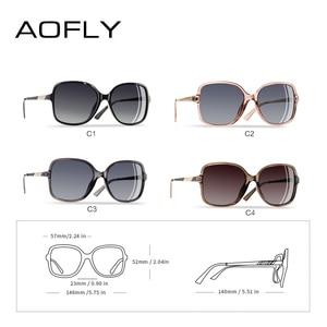 Image 3 - AOFLY Brand Design Sunglasses Women Oversized Square Frame Polarized Sun Glasses Female Luxury Ladies Eyewear zonnebril dames