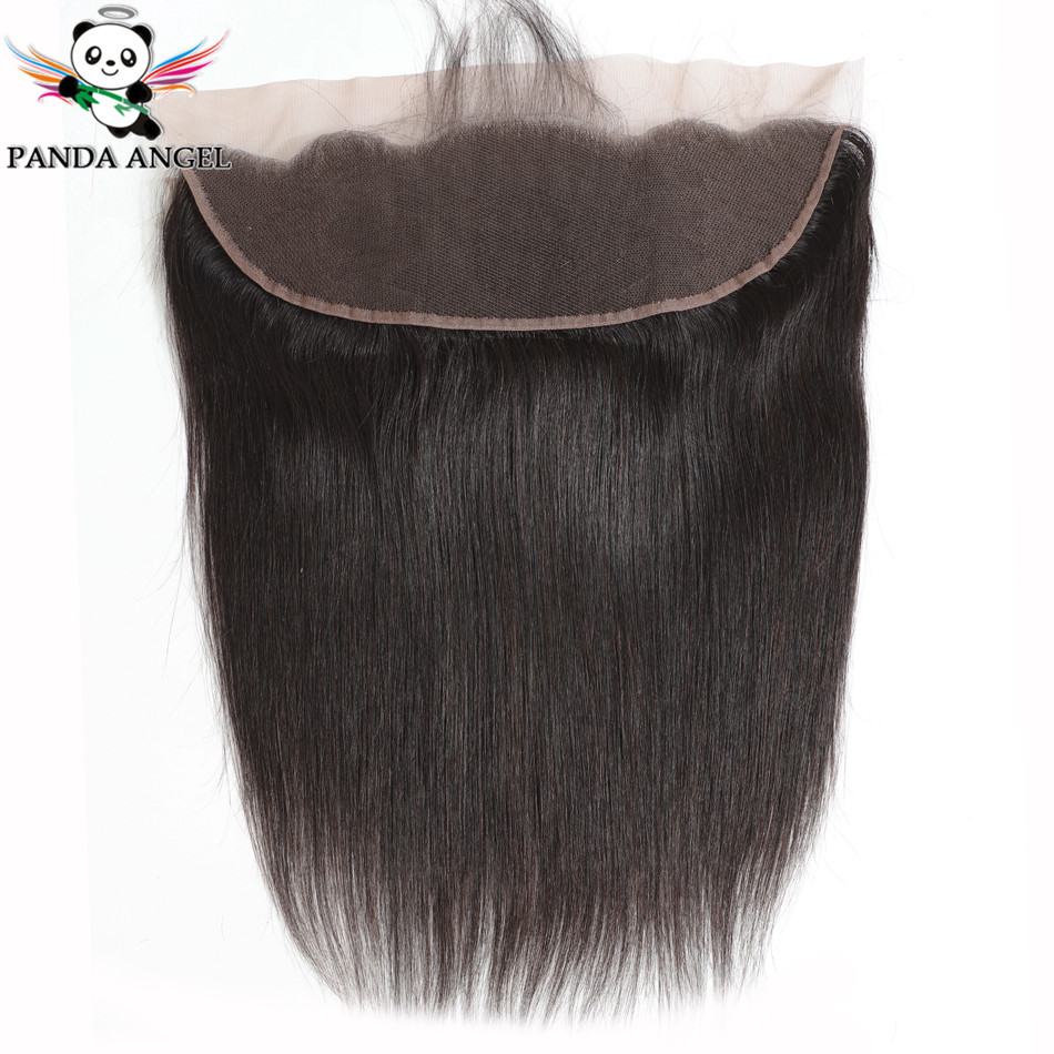 Panda Indian Straight 13*4 Lace Frontal Closure 100% Human Hair 8-22Inches Lace Frontal Closure For Black Women Hair Extensions