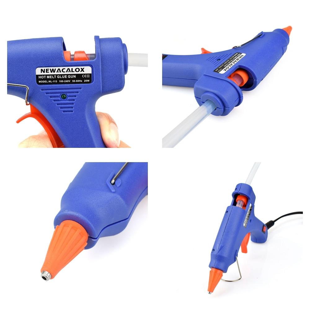 NEWACALOX 20W EU / US Plug Pistola per colla a caldo con 20pcs 7mm - Utensili elettrici - Fotografia 3