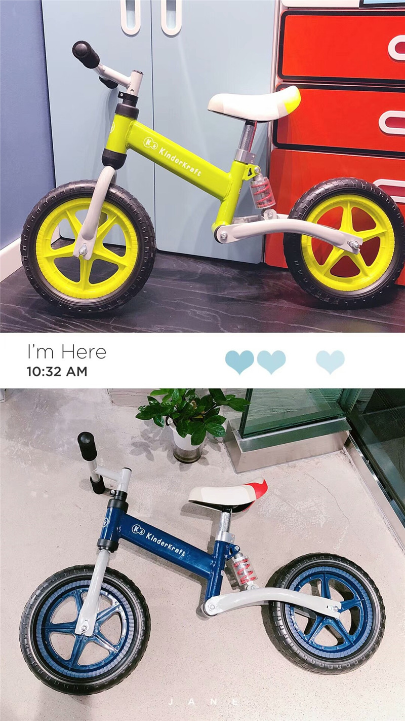 H0e5c137e42d74450b0007b1807ad8f1bJ Brand New Balance Bike Bicycle For Kids 3~6 Ages Child Toddler Complete Cycling Bike Learn to Ride Bicicleta No Pedal Push Bike