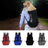 Portable Breathable Backpack Mesh Double Shoulder Pet Dog Carrier Bag Pet Dog Backpack for Travel Outdoor