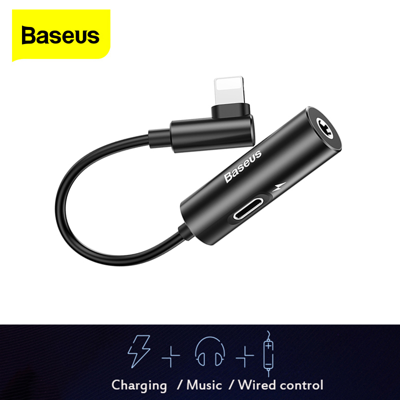 Baseus Aux Audio For Lightning To 3.5mm Jack Connector Earphone Headphone OTG Adapter For IPhone 11 Pro Xs Max Xr X 8 7 Splitter