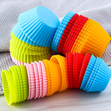 12pcs/set Silicone Cake Cupcake Cup Cake Tool Bakeware Baking Silicone Mold Cupcake and Muffin Cupcake for DIY Cake 12 pcs silicone cake muffin chocolate cupcake liner baking cup cookie mold newest hot search