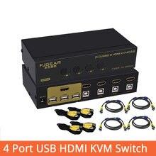 4 порта hdmi kvm switch usb Авто hd в 1 выход переключатель
