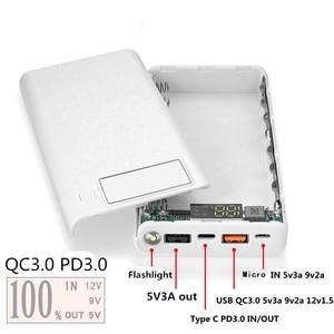Image 3 - Schnell Ladung Power Bank 18650 Fall QC 3,0 PD 3,0 Batterie Halter Schnelle Ladegerät Box Shell DIY HENGCHANG Dropshipping