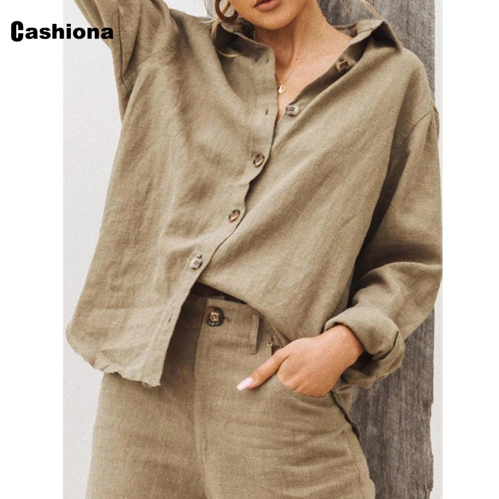Women Lepal Collar Leisure Blouse Plus Size Ladies Top Cotton Linen Shirts Feminina blusas shirt ropa mujer womens clothing 2021 7