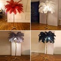 الحديثة LED الطابق أضواء رومانسية ريشة تصميم غرفة المعيشة مصباح أرضي ريشة الهبوط مصباح أضواء الدائمة غرفة المعيشة الإضاءة