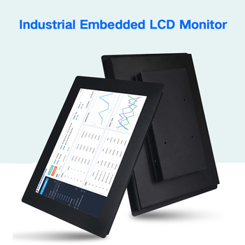 """17.3"""" Monitor Industrial control Display LCD Screen 1600*900 VGA HDMI DVI USB Resistance Touch Screen Buckles Mounting"""