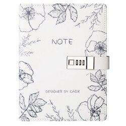 A5 notatnik sub-notatnik pamiętnik z zamkiem ręczna książka blokada hasła Notebook Travel planer dziennik Student zamek szyfrowy notatniki Off