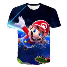 Najnowsze klasyczne gry Harajuku Super Mario dziecko chłopcy i dziewczęta t shirt Super Smash Bros 3D koszulka hip hop tshirt streetwear tanie tanio Poliester Moda Cartoon REGULAR Dzieci O-neck Topy Tees Krótki Pasuje prawda na wymiar weź swój normalny rozmiar Unisex