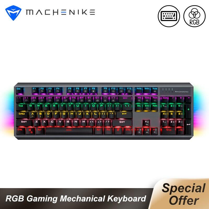Machenike K31 Wired Mechanical Keyboard 104 keys Blue Switch RGB Gaming Keyboard Full key without punch