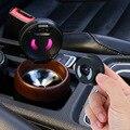 Автомобильная пепельница светодиодный светильник из нержавеющей стали дым чашки пепельница с прикуривателя светильник er для автомобильны...