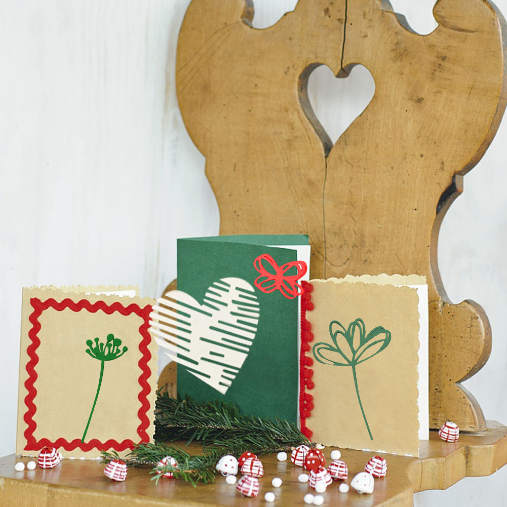 Heart Flowers Hollowed Metal Cutting Dies For DIY Scrapbooking Craft Embossing Die Cut Making Stencil Template New 2019