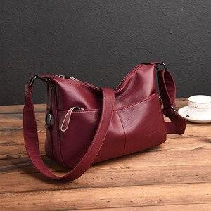 Image 3 - Winter Stil Weichen Leder Luxus Handtaschen Frauen Taschen Designer Doppel Tasche Frauen Taschen für Frauen 2020 Geldbörsen und Handtaschen Sac