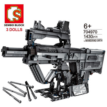 City Technic SWAT Army Toys Gun Model Weapon Bricks Military Soldier Assault Rifle Building Blocks Children Gifts for Kids Boys