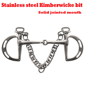 1pc horse stainless steel Kimberwicke bit Solid jointed mouth Horse bit horse product