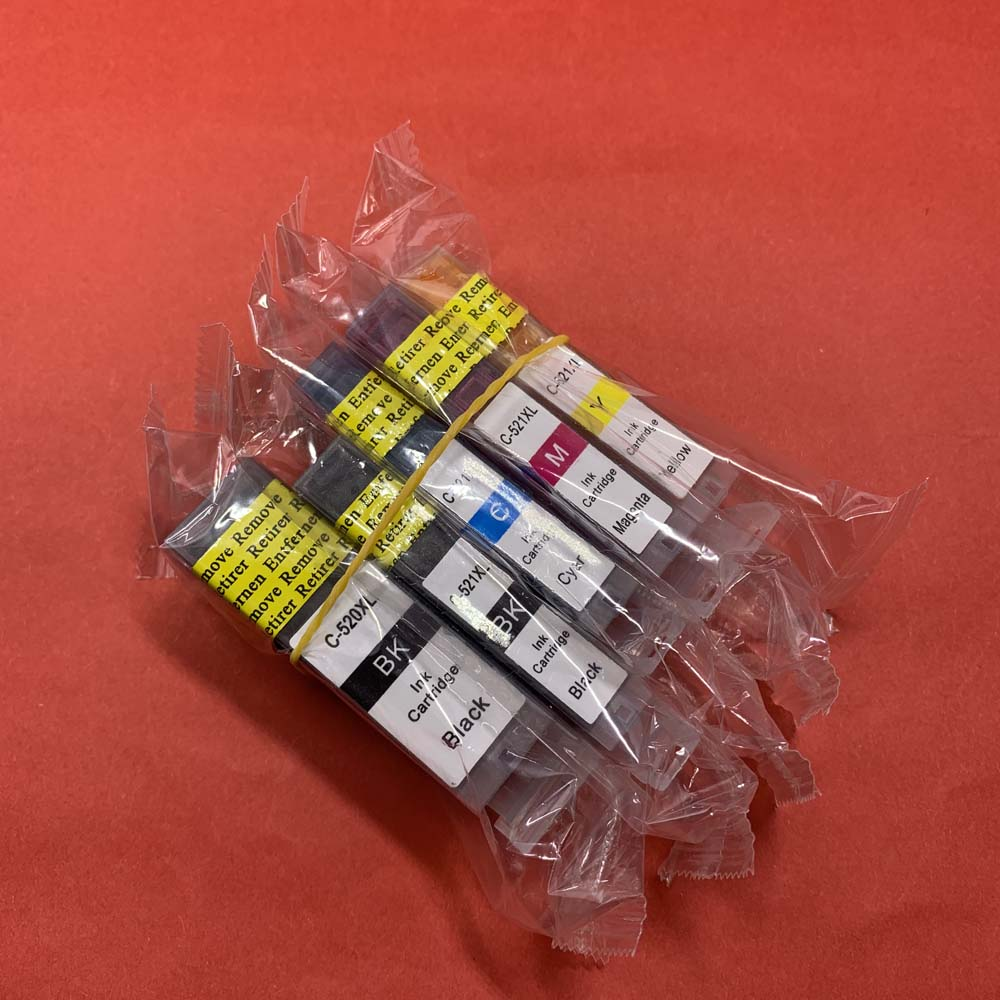 YOTAT 5pcs Compatible PGI520 PGI-520XL <font><b>ink</b></font> <font><b>cartridge</b></font> PGI-520 CLI-521 for <font><b>Canon</b></font> Pixma MP540 MP550 MP560 MP620 <font><b>MP630</b></font> MP640 MP980 image