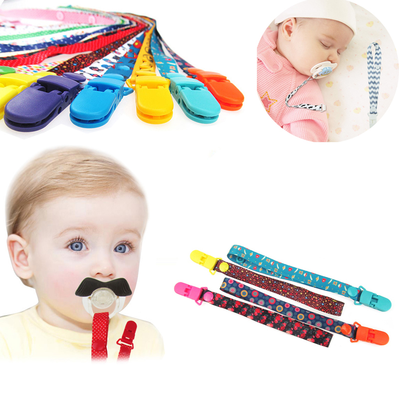 BalleenShiny Baby Pacifier Clips Infant Cartoon Anti Drop Pacifier Chains Nipple Holder Teething Anti Lost Ropes For Boys Girls