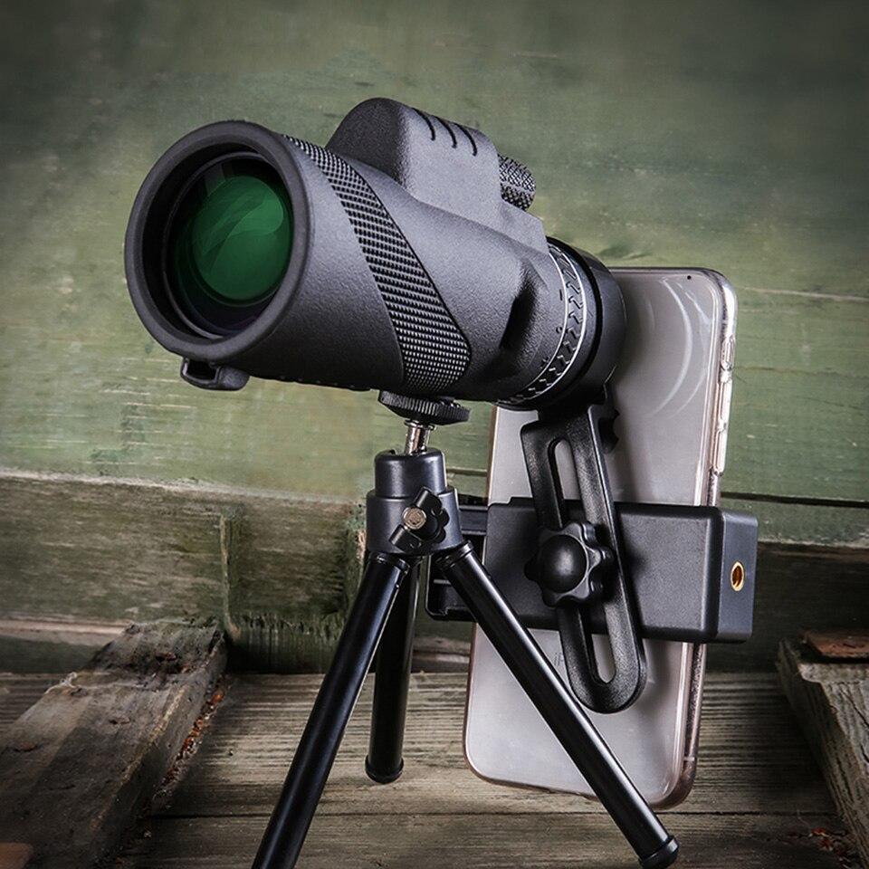 40X60 Telefon Kamera Monokulare Leistungsstarke Teleskop Für Mobile Nachtsicht Military Okular Handheld Ziel Objektiv Jagd Optik