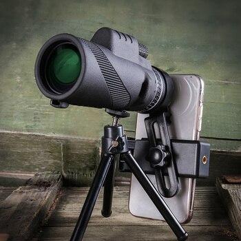 40X60 телефон камера Монокуляр мощный телескоп для мобильного ночного видения военный окуляр ручной объектив охотничья оптика