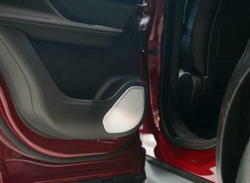 4*Aluminum Alloy Car Door Speaker Mesh Cover Trim For Jaguar F-Pace X761 2016-19