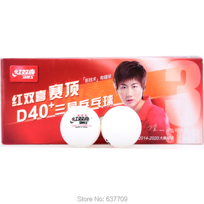 Original DHS 40+ 3 Stars New Cell Dual Table Tennis Ball New Technology Seam Ball For Ping Pong Racket Game Wholesales 20 Balls