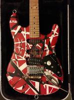 Guitarra Eléctrica Edward Eddie Van Halen Heavy Relic Red Franken, guitarra a rayas blancas y negras, puente de trémolo de Floyd Rose, pastilla inclinada