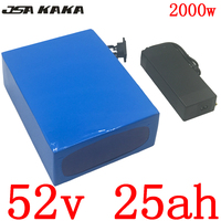 52V 25AH Lithium scooter battery 51.8V 25AH electric bicycle battery for 48V 1000W 1500W 2000W ebike motor with charger free tax