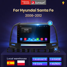 Junsun V1 4G + 64G Android 10,0 AI Control de voz 9 pulgadas radio coche con auto pantalla para Hyundai Santa Fe 2007 2006-2012 Multimedia altavoces con bluetooth/android auto /carplay/ NO cd /navegador gps coche