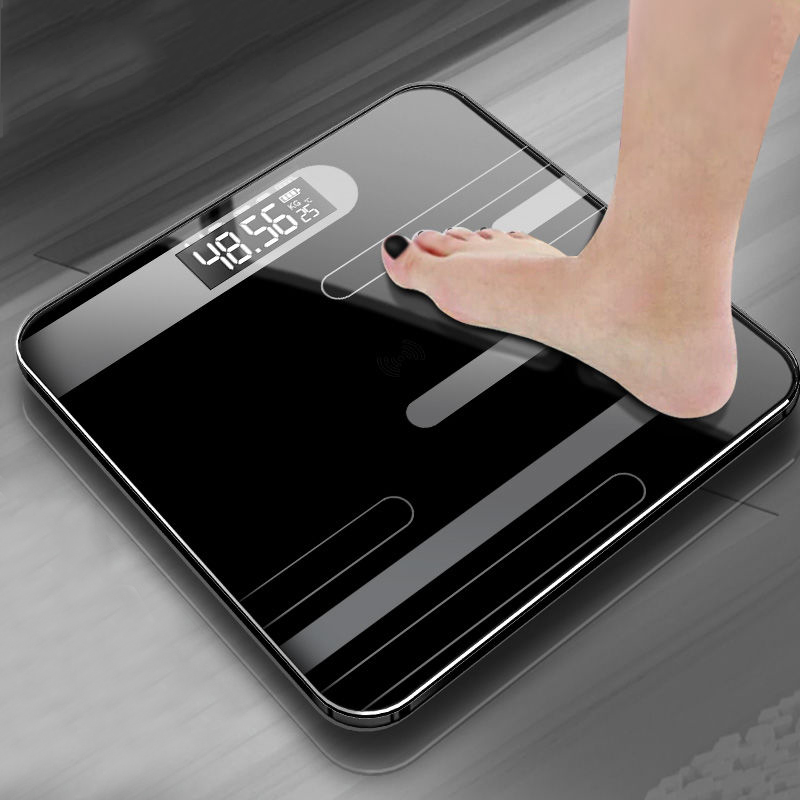 Body-Floor-Scales Glass Body-Weighing Digital Bathroom Smart Lcd-Display title=