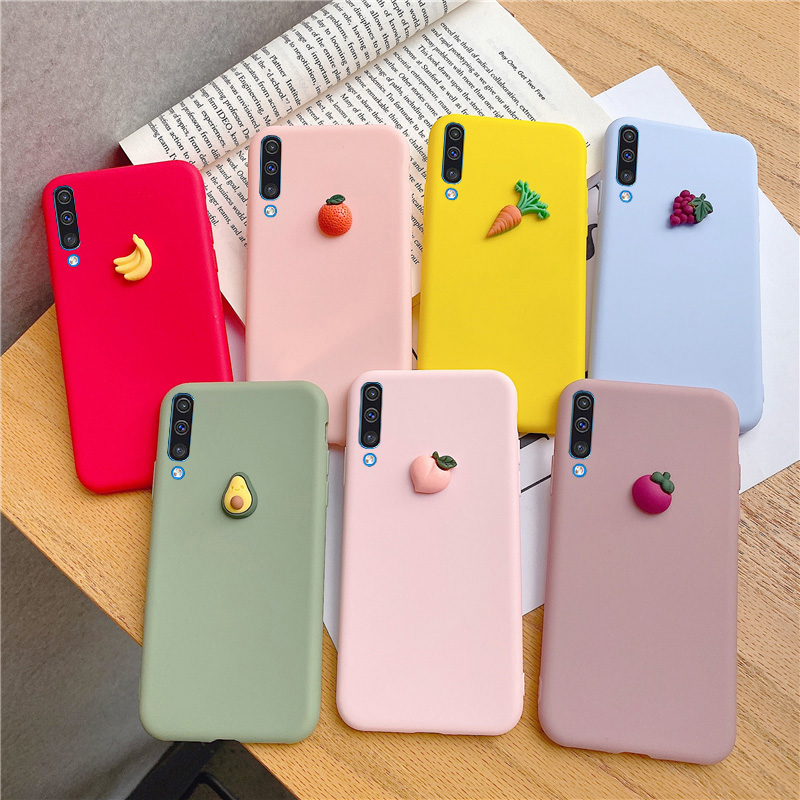 3D Fruit Peach Grape <font><b>Silicone</b></font> <font><b>Cases</b></font> For <font><b>Samsung</b></font> Galaxy A50 A20 A30 A60 <font><b>A70</b></font> A20E A10E A80 A10S A20S M10 M20 M30S Cover image