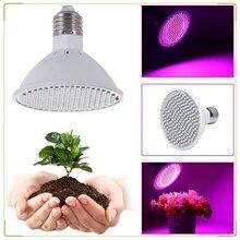 200w Led tam spektrum bitki büyümeye Led ampuller lamba aydınlatma tohumları çiçek sera sebze kapalı bahçe E27 phyto kutu büyümek