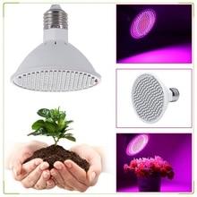 Lâmpada led de espectro completo para plantas, 200w, luz para crescimento, iluminação para sementes, flores, veg, jardim interno, e27