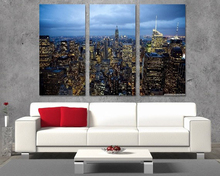 Modern Colorful Photo Picture City Night Lights Room Decor Cities Canvas Art Painting Living Bedroom