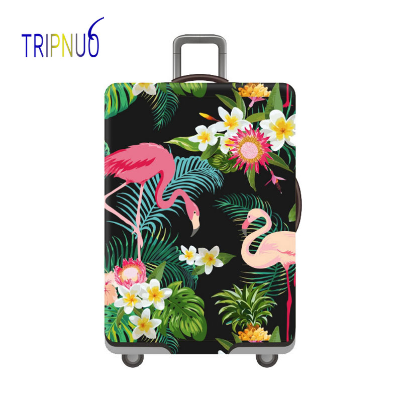 Flamingo Thicken Luggage Protective Cover 18-32inch Trolley Baggage Travel Bag Covers Elastic Protection Suitcase Case