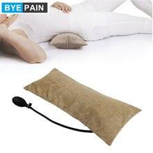 وسادة نفخ هوائية محمولة متعددة الوظائف من byepin لآلام أسفل الظهر ، وسادة قطنية لتقويم العظام ، والسفر ، والخصر