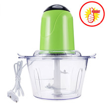 2L Electric Chopper Powerful Meat Grinder Stainless Steel Multifunctional Household Food Processor Meat Kitchen Blender XJ30