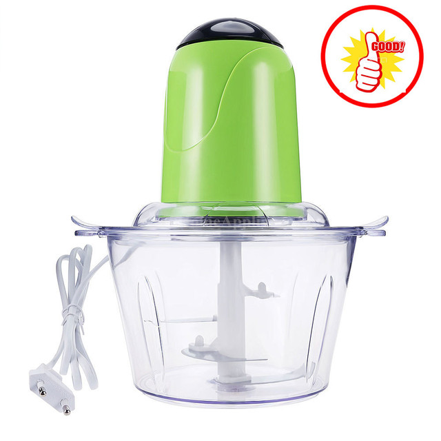 2L Elektrische Chopper Leistungsstarke Fleischwolf Edelstahl Multifunktionale Haushalt Küchenmaschine Fleisch Küche Mixer XJ30